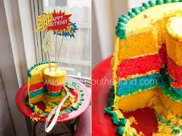 superhero birthday cake surprisingly easy to make and killer