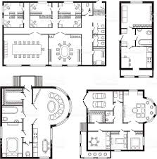 modern office architectural plan interior furniture and