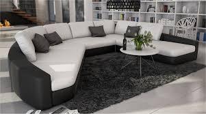 Wohnzimmer Couch G Stig Sam Sofa Garnitur In Weiß Schwarz Domencia Designed By Ricardo