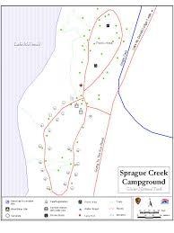 Glacier Park Map Sprague Creek Campground Glacier Park