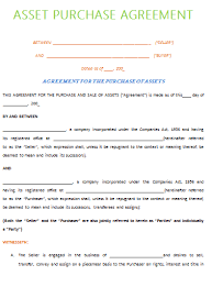 purchase agreement template agreement sample templates