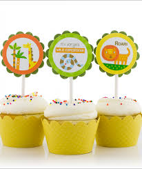 safari cake toppers birthday party cupcake toppers