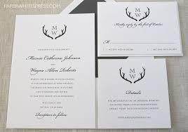 create your own wedding invitations antler wedding invitations lilbibby