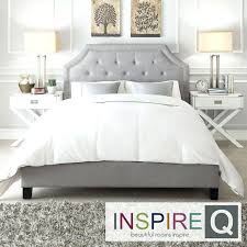 Gray Platform Bed Grey Fabric Headboard U2013 Senalka Com