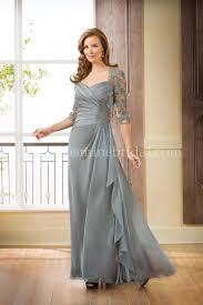 of the gowns j175066 neckline chiffon lace mob dress with sleeves