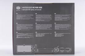 mod鑞e chambre 酷碼masterliquid ml240r rgb一體式水冷開箱 安裝快速 多彩繽紛 xf