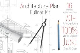 Floor Plan Builder Architecture Floor Plan Toolkit Objects Creative Market