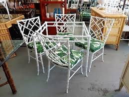 Bamboo Patio Set by Phyllis Morris Style Faux Bamboo Patio Set Circa Who