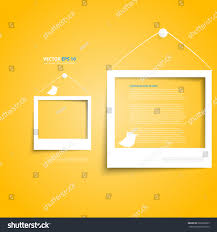 Picture Frame On Wall by Vector White Frames On Yellow Wall Stock Vector 220262833