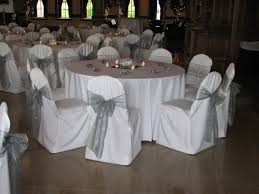 silver chair sashes white and silver reception silver a sophisticated wedding color