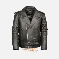 biker apparel police terminator leather jacket w side laces biker apparel online