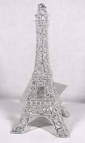 silver glitter eiffel tower tree ornament