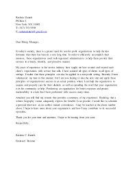 cover letter for non profit create cover letter cover letter for