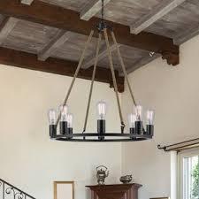 industrial style lighting chandelier industrial chandeliers you ll love wayfair