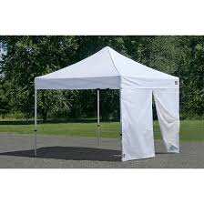 9x9 Canopy by Alumi Max Wall Panel With Center Zipper
