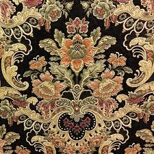 uffizi palace jet black tapestry upholstery fabric by swavelle