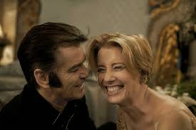 brosnan and thompson as partners in crime in the romantic comedy