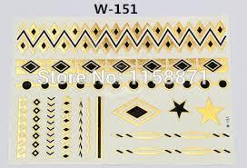 best sell tattoo design books metallic temporary gold tattoo flash