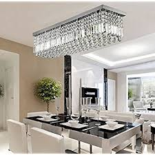 Crystal Ceiling Mount Light Fixture by Siljoy Rectangular Raindrop Crystal Chandelier Lighting Modern