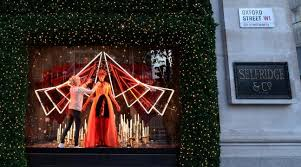 selfridges has unveiled its christmas window which means the