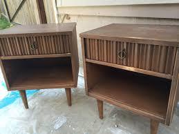 mid century modern coral nightstands refresh living