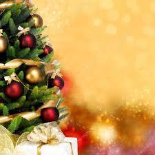 decorated christmas tree on white background u2014 stock photo
