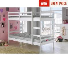 Buy HOME Josie Single Bunk Bed Frame White At Argoscouk Your - White bunk beds uk