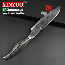 damascus kitchen knives 5 inches santoku knife japanese vg10 damascus kitchen knives