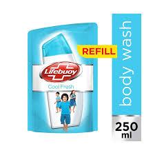 Sabun Cair lifebuoy sabun cair cool fresh refill 250ml elevenia