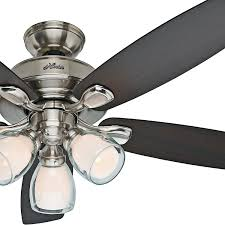 52 Ceiling Fan With Light Fan 52 Casual Ceiling Fan In Brushed Nickel With Dual