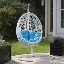 Cocoon Swing Chair Suntime Garden Patio Cocoon Hanging Egg Chair With Cushion Ebay