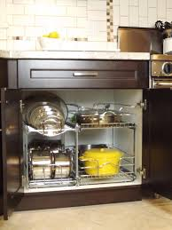 kitchen cabinet storage solutions lowes lowes pot organizer for your tiny kitchen click through for