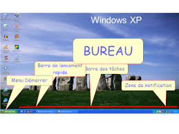 bureau windows bureau windows xp barre de lancement rapide barre des tâches ppt