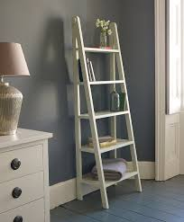 Brown Ladder Shelf Cool White Leaning Bookcase Ikea 59 White Leaning Ladder Shelf