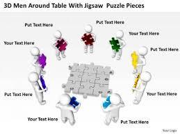 business process flow diagrams jigsaw puzzle pieces powerpoint