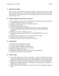 hw1 project charter electronic health record for university health ca u2026