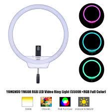 circle light for video yongnuo yn608 rgb led video light photography video ring light 5500k