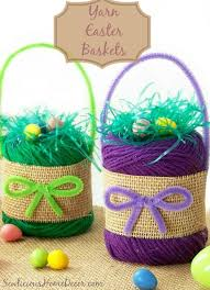 Easter Room Decorations by Diy Yarn Easter Baskets Craft Room Decor