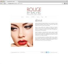 Professional Makeup Artist Websites Web 02 Rouge By Rachel Rainbowworks
