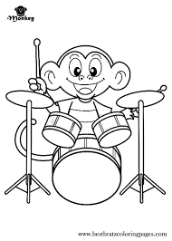 printable monkey coloring pages 32 best best bratz coloring pages images on pinterest coloring