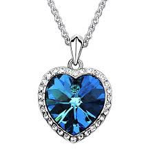 blue crystal necklace swarovski images Blue swarovski crystals something blue bouquet charm swarovski jpg