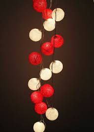 red string lights for bedroom white red cotton ball string light wedding fairy light bedroom