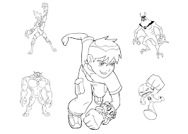 ben 10 omniverse coloring pages ben ten coloring pages cartoon