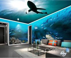 wallpaper for entire wall 3d sharks shadow underwater entire room wallpaper wall murals art