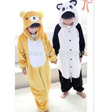 halloween dress party boy pajamas anime animals bear panda