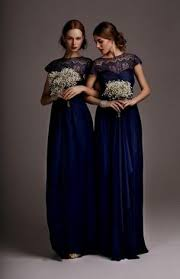 mix and match navy blue chiffon bridesmaid dresses from kennedy