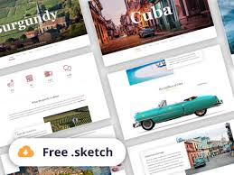 free travel landing page generator sketch by jakub from