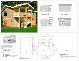 3 Car Garage With Apartment Plans Garage Apartmentans Bedroom On Level Log One Car With 97
