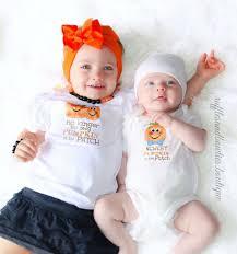 Halloween Baby Shirt Fun Sibbling Pumpkin Patch Matching Halloween Harvest Fall Shirts