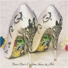 wedding shoes etsy beauty and the beast inspired wedding shoes are being sold by etsy